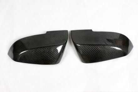 """""""Skal"""" Kolfiber Backspegelkåpor till BMW F20, F21, F22, F23, F30, F31, F32, F33, F34, F35, F36, F87, E84 och i3 (Passar både LCI och inte LCI) (Monteras med tejp på originalet)"""