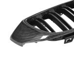 Kolfiber grill med mattsvarta ribbor till BMW 4-Serie, M3 och M4 (Passar F80, F32, F33, F36, F82, F83)